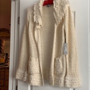 Cream and gold sweater